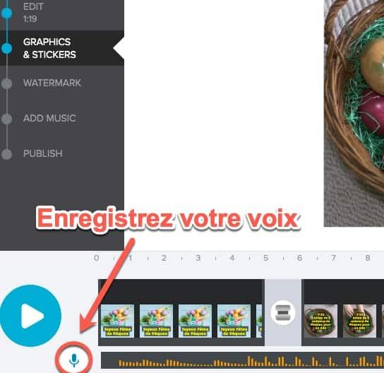 Enregistrement de voix off pour personnaliser votre montage vidéo