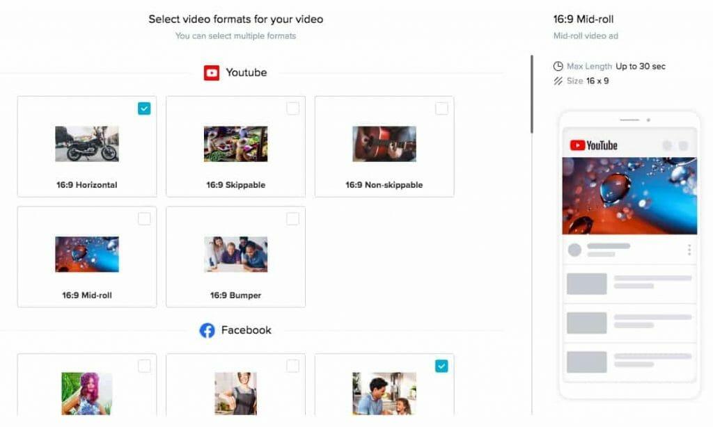 PLus de 30 formats de réseaux sociaux différents