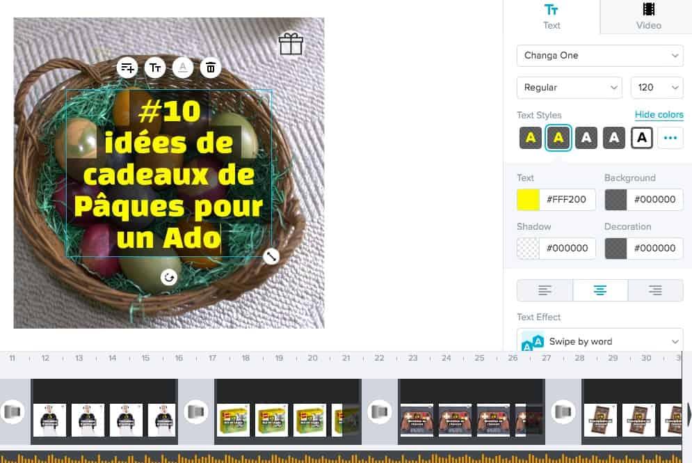 animation de textes et emojis pour donner plus de vie à votre montage de vidéo en ligne