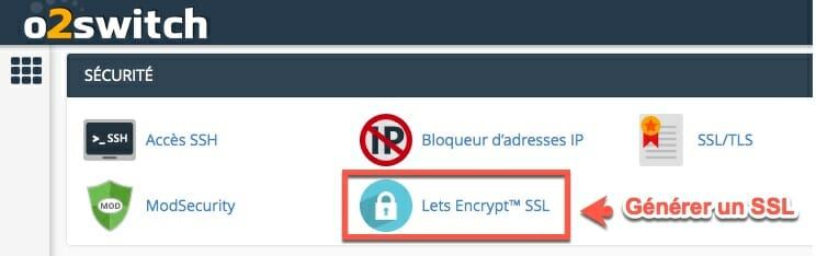 Générer un SSL dans cpanel