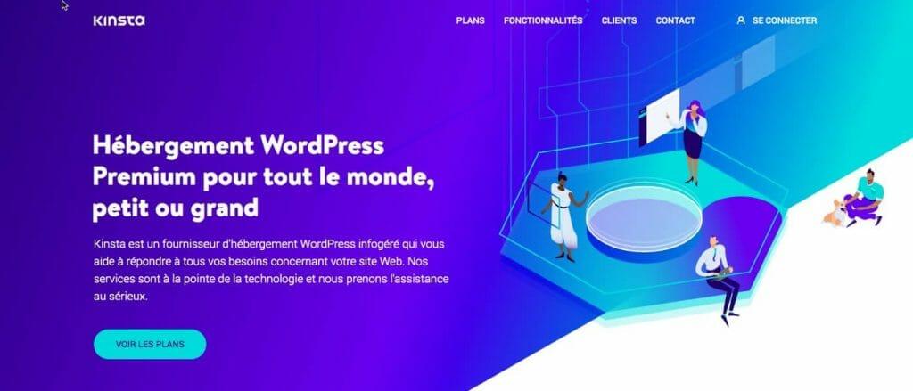Hébergement Kinsta - Un Hébergement web premium