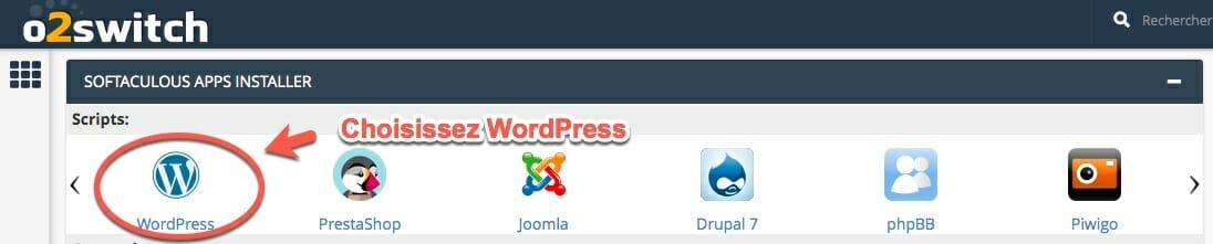 comment installer wordpress dans cpanel